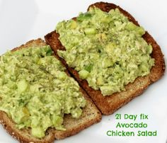 Clean Eating Meets Country Girl: 21 Day fix Avocado Chicken Salad