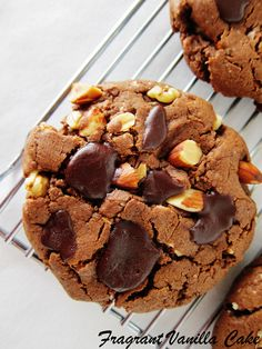 Vegan Mississippi Mud Cookies (gluten free)