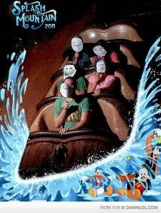 Trolls at Splash Mountain Disney World Fotos, Disney World Rides, Disney World Pictures, Humor Disney, Funny Disney, Disney Stuff, Rollercoaster Funny, Image Meme, Funny Memes