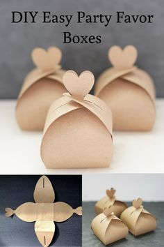 DIY Easy Party Favor Boxes DIY Wedding on a budget, free favors box with template<br> wedding favors under easy homemade fall wedding favors how to make a small gift box out of paper, nice cheap favors Wedding Favors And Gifts, Wedding Favor Boxes, Gift Wedding, Diy Wedding Souvenirs, Diy Wedding Cards, Diy Souvenirs, Handmade Wedding Decorations, Souvenir Ideas, Wedding Decorations On A Budget