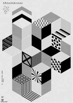 Pattern black & white. Geometric