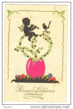 Lieldienu atkltne old latvian easter card via the latvian national priecigus lieldienas svetkus easter greetings postcard 1939 m4hsunfo Images