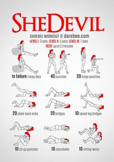 SheDevil Workout Infographic