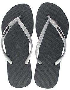 037bd8c7a1771e Havaiana Women s Slim Pop Up Flip Flops - Black Pale Green