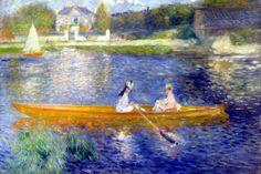 """The Seine at Asnieres"" by Pierre-Auguste Renoir"