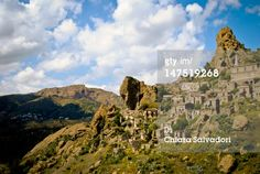 #Pentedattilo #ghost_town. àCloudy #sky over Pentedattilo, #Calabria. #Italy.