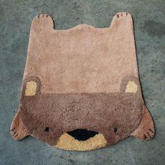 Bearskin rug for the nursery