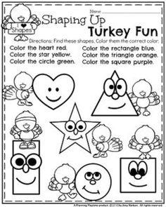 68 Best Thanksgiving Worksheets images | Preschool, Thanksgiving ...