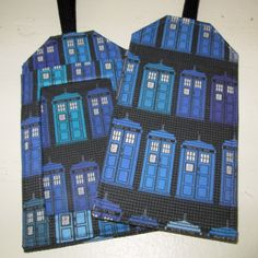 Luggage Tag Dr Who Tardis Blues Fabric & Vinyl Travel Accessory Cruise Journey Bag Tags Geek Techie Gift Card Holder Sci Fi Fantasy by AmericanPie on Etsy https://www.etsy.com/listing/195382375/luggage-tag-dr-who-tardis-blues-fabric