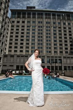 Nothing like a poolside wedding shoot at the Chicagoan! | Andre LaCour Photography