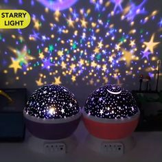 Rotating Night Light Projector - Star projector – Four color lights project a complete starry star sky onto the walls and ceiling, - Home Decor Signs, Retro Home Decor, Easy Home Decor, Star Night Light, Star Sky, Baby Night Light, Night Light Projector, Projector Lamp, Birthday Greeting Cards