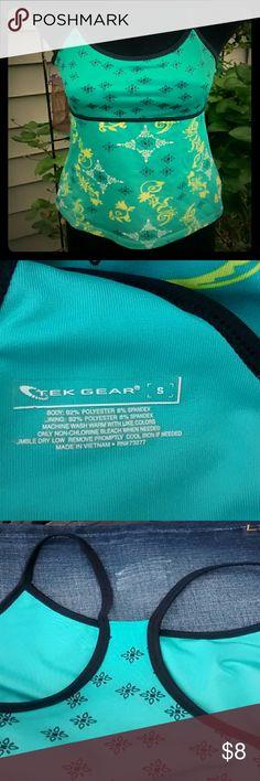 Workout racer back Built in bra, racer back. Tek Gear Tops Tank Tops