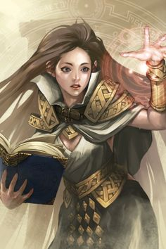 Beautiful female mage. Reminds me of someone,  actually. .. leejeeh - jee hyung lee