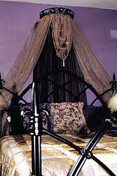 Black and Purple Bedding