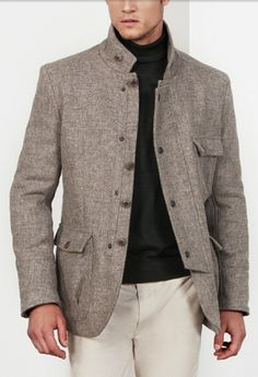 Refined yet approachable tweed.