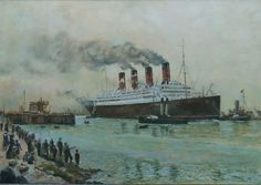 "Ocean Liner ""Aquitania"". Oil on canvas. Thomas Kohler"