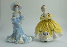 Collectors & General Auction – Lot 573 – Royal Doulton lady figure Last Waltz HN2315 and Coalport ltd edition figure Lady Sara (2). Sold for £32.00