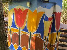 Zid pictat, ghereta pompelor, detaliu (2) Ceilings, Floors, Fair Grounds, Walls, Outdoor Decor, Fun, Home Decor, Ceiling, Home Tiles