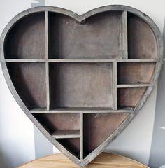 Heart shaped display shelving - love it!