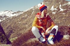 Mountain wear for 1975 - gotta have those rainbow apre ski boots!!!