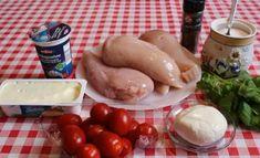 Piept de pui în sos cremos la cuptor – trebuie să încercați acest deliciu! - Retete-Usoare.eu Mozzarella, Sausage, Meat, Food, Beef, Meal, Sausages, Essen, Hoods