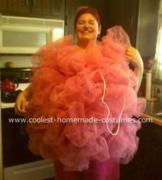 Loofah costume. Could turn it into a Lumpy Space Princess costume if doing Adventure Time group