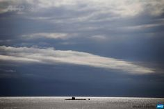 FRANCE, Nice: A picture shows a submarine on October 7, 2014 in Nice. AFP PHOTO / VALERY HACHE