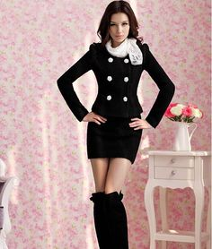 2017 Office Lady Skirt Business Suit Professional Set Women Fashion Slim Ol Plus Size Short Jacket Free Shipping In Suits From Arel Accessories