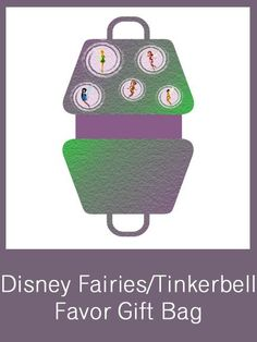 Disney Fairies/Tinkerbell Party Favor Gift Bag - FREE PDF Download