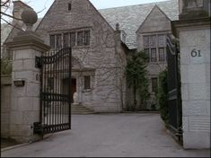 """Richard & Emily Gilmore's Mansion in Hartford, CT, on the TV show """"Gilmore Girls,"""" as profiled by the amazing Hooked On Houses blog on May 23rd, 2010."""