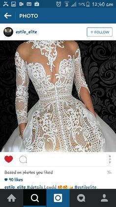 Beautiful lace detailing with oerfectly placed patterns