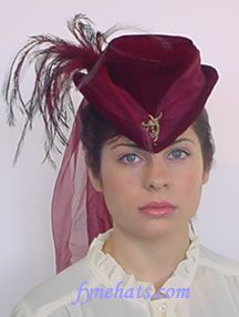 I love these!!!  Burgundy Victorian Hat