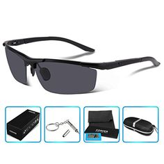 7d31feac28 COSVER 8530 Men s Sports Style Polarized Sunglasses for Driving Fishing Golf  Glass Cycling Sunglasses