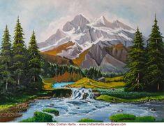 Peisaj de munte, pictor Cristian Hartie