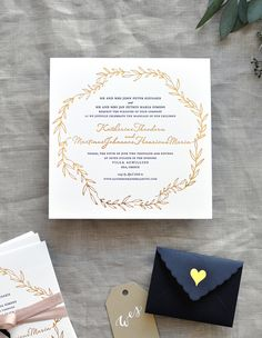 black white and gold foil destination wedding invitations - Destination Wedding Invites