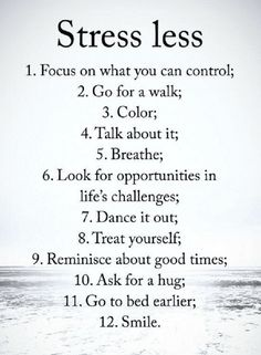 Quotes 12 steps to stress free life.