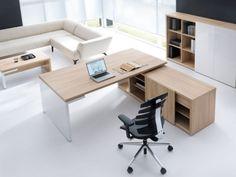 Schreibtisch mit Sideboard FARO   Klassiker Direkt - Chefzimmer, Büromöbel, Funktionsmöbel, Designmöbel