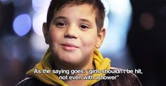 This is so cute, yet so powerful. Italian video that explores a kids reaction to violence against women