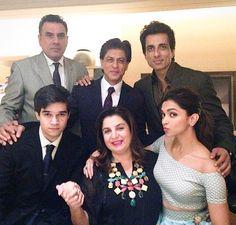 Shah Rukh Khan,Boman Irani,Sonu Sood,Vivaan Shah,Deepika Padukone n Farah Khan - Happy New Year