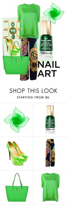 """""""Off to Emerald  City"""" by itsmekaren ❤ liked on Polyvore featuring beauty, Post-It, Mavala, Christian Louboutin, MICHAEL Michael Kors and P.A.R.O.S.H."""