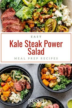 Kale Steak Power Salad - Meal Prep on Fleek™