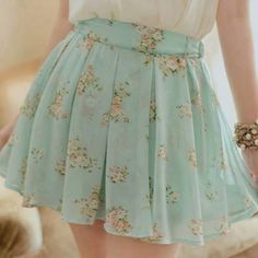 #Flowers #BlueSkirt