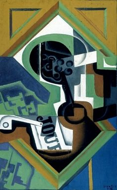 'Pipe and Fruit-dish with Grapes (1918) by Juan Gris