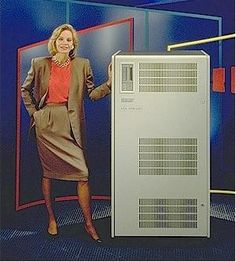 1991 - The NVAX incorporated the pipelined performance of the VAX 9000 and was the fastest CISC chip of its time. The VAX 6610 system (shown here) delivered 83 transactions per second, boasting better performance than RISC based systems from IBM or HP.