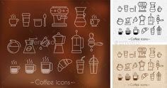 Coffee theme icons — Photoshop PSD #restaurant icon • Available here → https://graphicriver.net/item/coffee-theme-icons/10399758?ref=pxcr