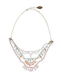 pastel multi layered necklace.