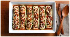 Stuffed Zucchini Recipe Kraft Recipes, Lunch Recipes, New Recipes, Dinner Recipes, Cooking Recipes, Favorite Recipes, Dinner Ideas, Easy Recipes, Vegetarian Recipes