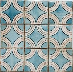 the tiles are square, but the motif is circles and look INSIDE the circles....HEARTS! adorable?