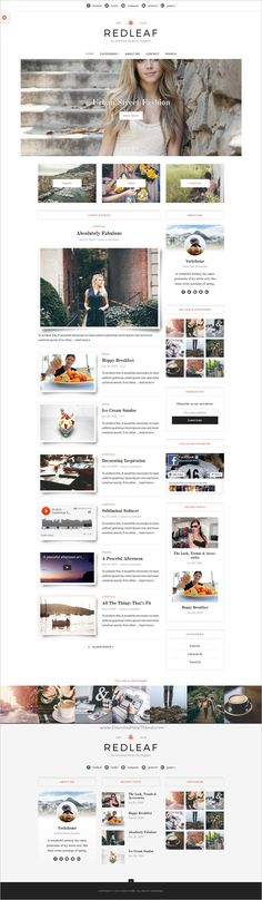 Redleaf is a cleand and classic responsive #WordPress theme for #blog and magazines #website with 13 different layout styles download now➩ https://themeforest.net/item/redleaf-clean-blog-magazine-wordpress-theme/18908563?ref=Datasata