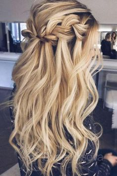 Voluminous Waterfall Braid by @Vera Fursova.